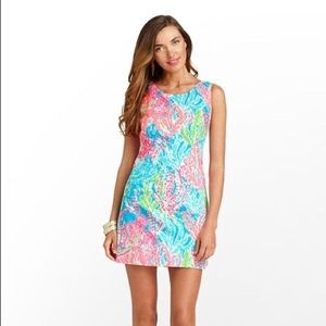 Lilly Pulitzer Delia Shift Let's Cha Cha Turquoise